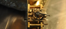 Carriage Clock Movement with Broken Platform Escapement