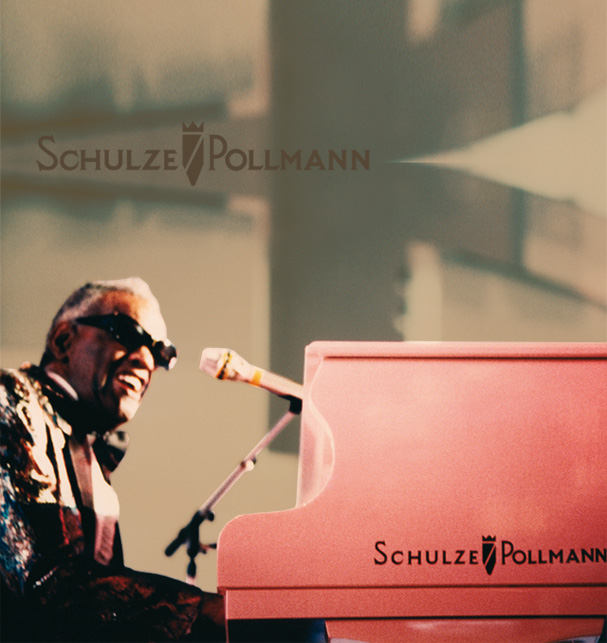 Ray Charles playing a Schulze Pollmann